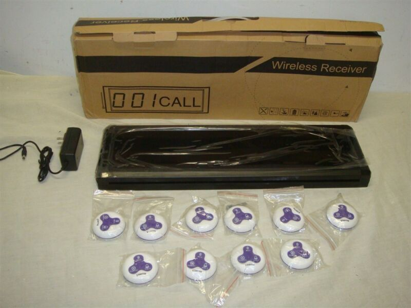 MEEYI Y-128E-A WIRELESS TABLE CALLING SYSTEM FOR RESTRAUNTS - LOOK!