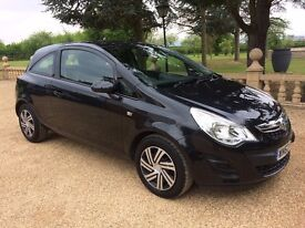 VAUXHALL CORSA 1.4 Exclusiv Auto, MOT Dec 2017, Just Serviced, Looks and Drives Superb (black) 2012