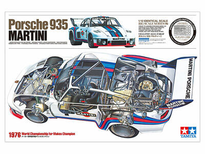 Tamiya 12057 - 1/12 Porsche 935 Martini - Neu