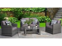 *FAST AND FREE DELIVERY* Conservatory 4-Piece Rattan Sofa & Table Garden Set - BRAND NEW