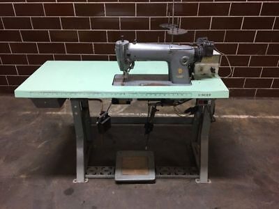 Singer 281-143 Industrial Sewing Machine With Singer Needle Positioner Vintage