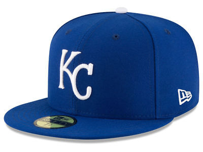 New Era Kansas City Royals GAME 59Fifty Fitted Hat (Royal Blue) MLB Cap - Kansas City Royals Hats