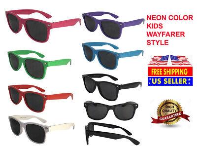 New Children 3-14 Wayfarer Style High Quality Comfort Best Sunglasses For Unisex