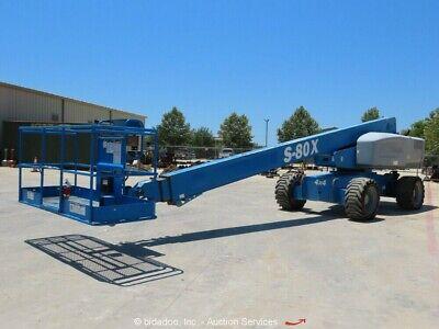 2012 Genie S-80x 80 4wd Diesel Telescopic Boom Lift Man Aerial