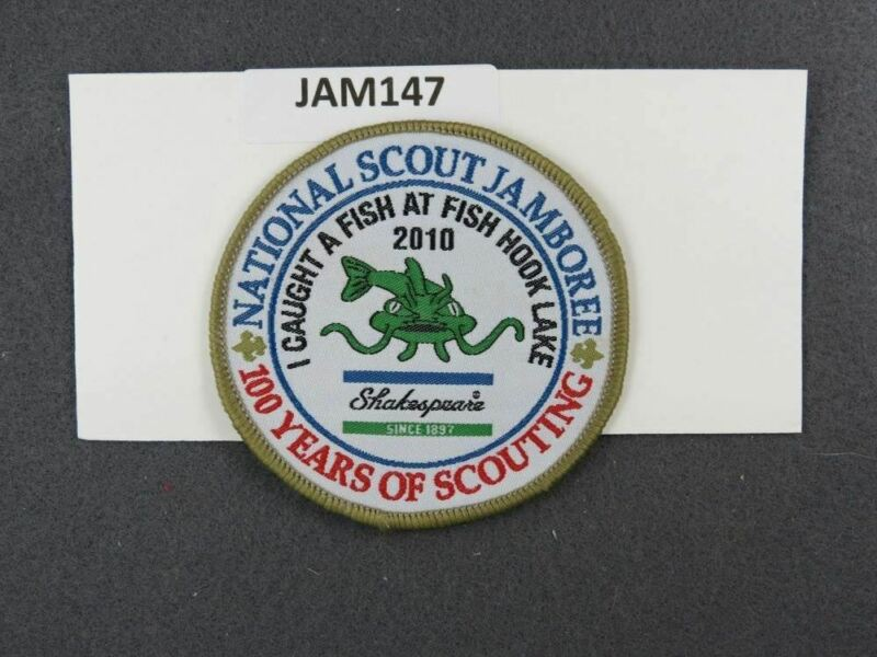 2010 National Scout Jamboree I Caught a Fish at Hook Lake Gold Border [JAM147]^^