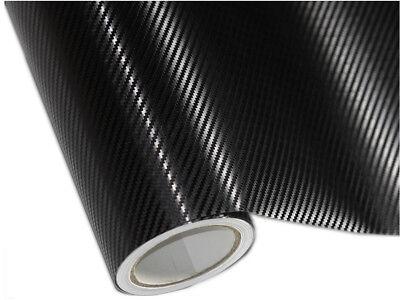 3D Carbonfolie Schwarz für BMW Motorhaube 200cm x 152cm mit Luftkanäle