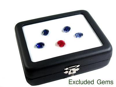 Top Glass Display Box 9x11 Cm. Gem Diamond Jewelry Coin Holder Keeper Show Case