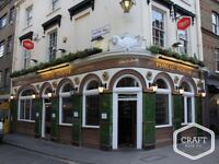 Part Time Bar Person needed at Award Winning Friendly Clerkenwell Pub