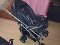 Mamas & Papas Pushchair, Car Seat and base