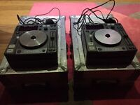 Denon DN-S1000 X 2 CD Players Serviced With Flight Case