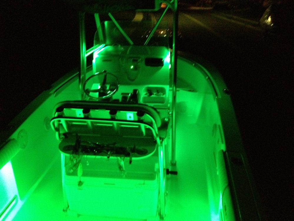 Boat Accent Light WaterProof Green LED Lighting Strip RV SMD 3528 600 LEDs16 ft