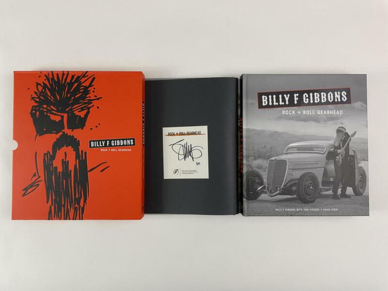 "BILLY GIBBONS SIGNED AUTOGRAPH ""ROCK + ROLL GEAR HEAD"" BOOK W/ CASE - ZZ TOP"