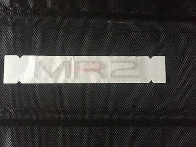 Toyota MR2 1994-1995 Rear Center Panel Emblem Lettering Decal Discontinued Badge