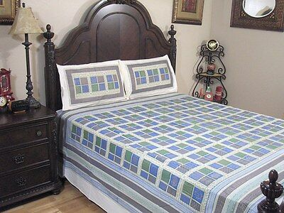 Blue Patola Paisley Bedding 3P Cotton Sheet Gold Print Luxury India Bed Linens - Gold Bed Linens