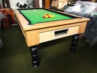 7ft x 4ft slate bedded English Pool table