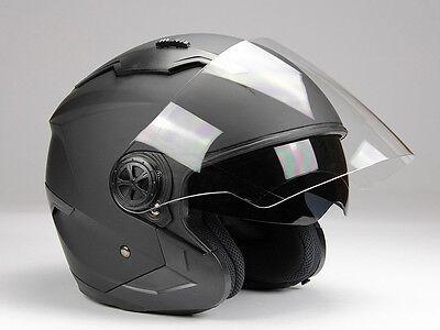 Jethelm Langvisier mit Sonnenblende Jet300 Motorradhel Roller Helm XS - XXL