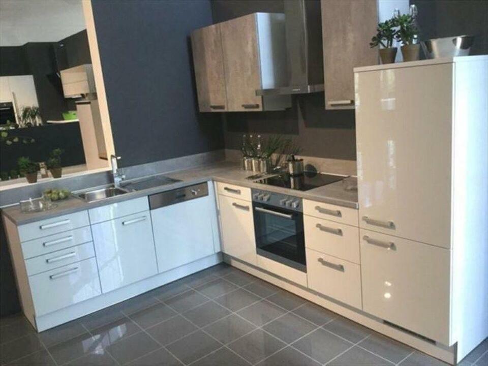 NEUE Beton Grau Einbauküche Küchenblock Küche L-Form NEU