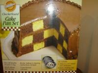 wilton checerboard cake pan set