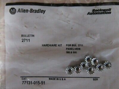 Allen Bradley 77131-015-51 Nuts Hardware Kit For 2711 Panel View Pack Of 8