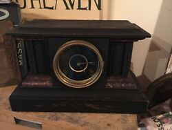Antique Sessions Versailles Mantel/Shelf Clock W/Works - Parts/Repair! Nice!