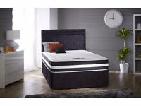 Double/Small Double divan Bed Frame with Choice of Mattress-4ft/4ft6