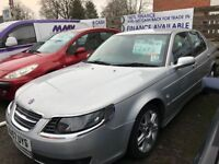 SAAB 9-5 VECTOR TID (silver) 2007 Car Sales / Finance NO DEPOSIT REQUIRED Cheap Cars Swaps available
