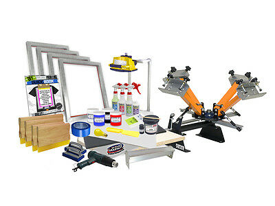 Diy 4 Color Shocker Start-up Screen Printing Kit - Press Printer Starter 41-4