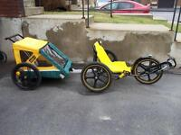 Tricycle pour adulte & remorque.