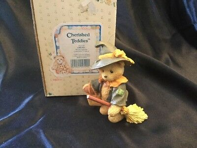 Enesco Cherished Teddies GRETEL WE MAKE MAGIC ME AND YOU Witch Figurine 912778