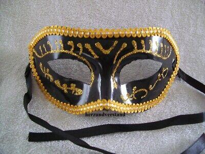 Maske mask maschera masque Kunststoff schwarz gold venezianisch Karneval