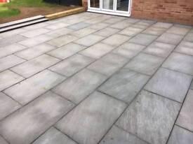 Indian sandstone slabs, castle grey