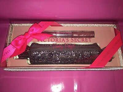 Victoria's Secret Party Perfect NOIR TEASE Perfume Lip gloss bag set NIB