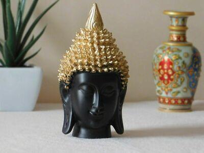Golden Hancrafted Palm Buda & Cabeza Poliresina Prunkstück Decorativo,Decorativa