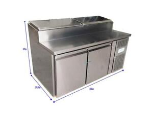 59'' Refrigerated Countertop Pizza Prep Table 191033