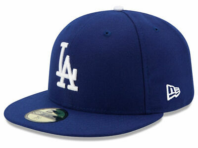 New Era 59Fifty Los Angeles LA Dodgers Game Fitted Hat (Dark Royal) MLB Cap Mlb 59fifty Cap