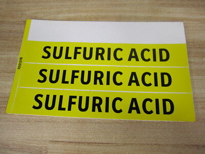 Lab Safety Supply 100121b Sulfuric Acid Sign 3 Labels