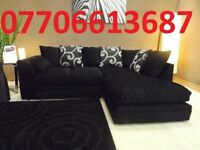 BLACK FRIDAY DEALS-BRAND NEW FABRIC CHENILLE SWIRL CORNER SOFA + DELIVERY