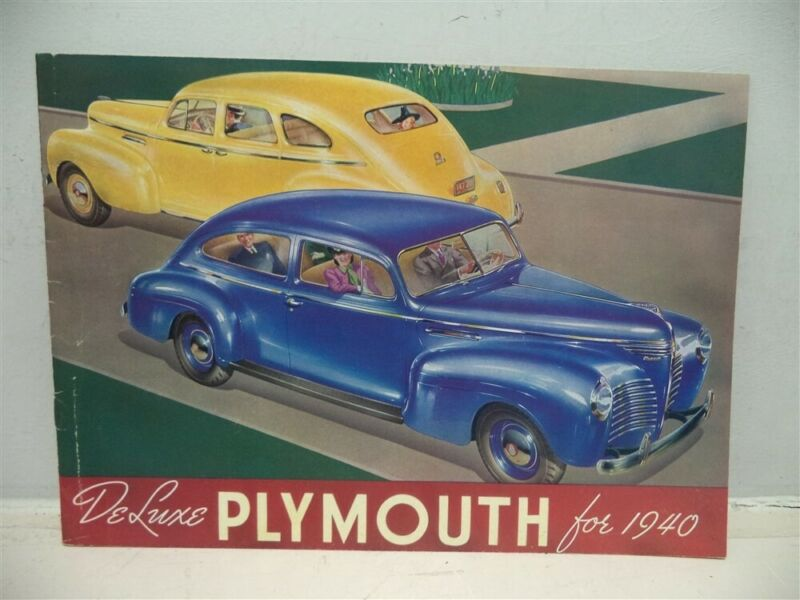 1940 DeLuxe Plymouth Brochure