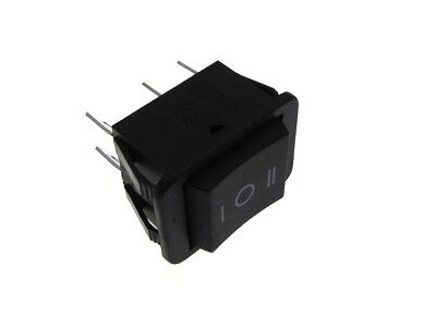6-pin 16a 125vac Dpdt Rocker Switch On-off-on Panel Mount Snap-in