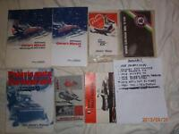 POLARIS /OTHERS  SNOWMOBILE  OWNERS MANUALS 1973-- 1988
