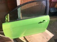 Ford Focus Rs 2010 Mkii Pass Side Complete Door In Ultimate Green Breaking Car