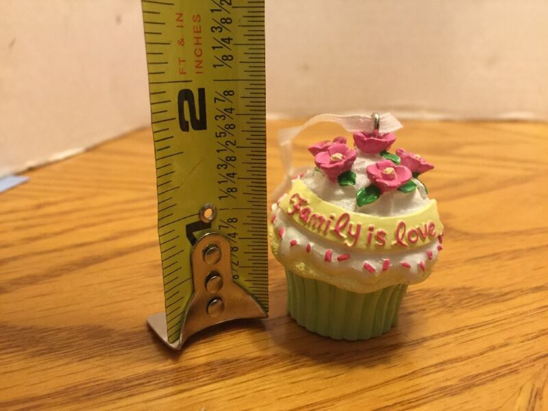 Small Cupcake Ornament Family Is Love