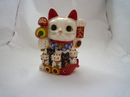 Maneki neko Lucky Cat Ceramic bank  Japanese Maneki Neko h1