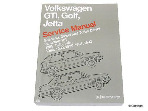 Repair Manual-Bentley Repair Manual WD EXPRESS 989 54003 243 fits 85-92 VW Jetta