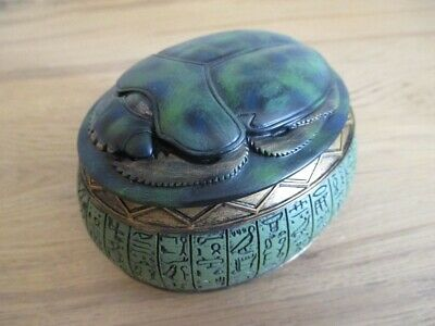 Scarab Beetle Bug Casket Can Egypt Collection Egypt Figure New