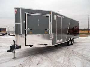 2017 CJAY FX9-823-72-T35 Enclosed Snowmobile Trailer