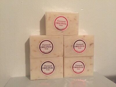 5 x Original Glutathione Gluta Skin Whitening Soap Bars w Oatmeal lot of -
