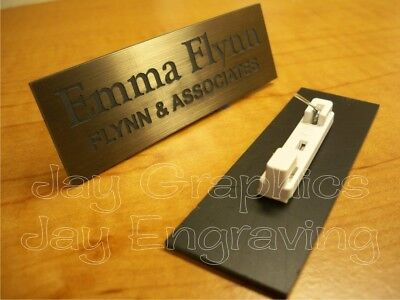 Custom Engraved Bronze Name Tag Badge Employee Identification Id Personalized