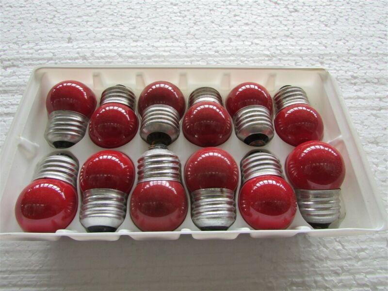 12 GE 7-1/2 Watt Red Indicator Lamps D-37