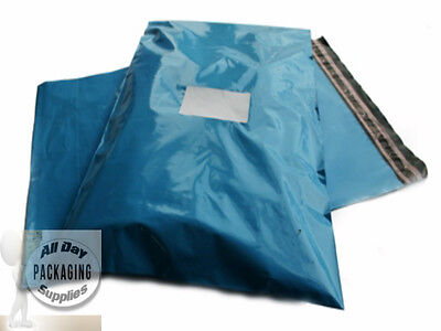 """10 BLUE SELF SEAL POSTAGE MAILING BAGS SIZE 12 X 16"""" PLASTIC POLYTHENE POUCHES"""